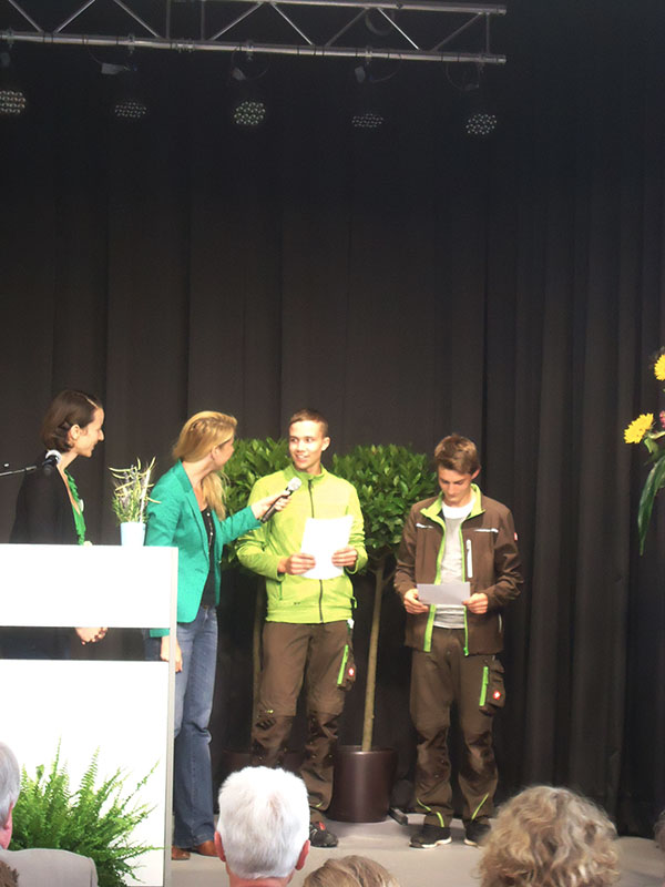 Team Grün Elzach – 2. Platz für unser Junggärtner