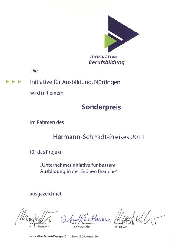 Team Grün Elzach – Sonderpreis für gute Ausbildung