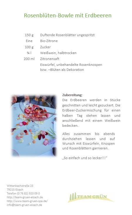 Rosenblüten-Bowle Rezept