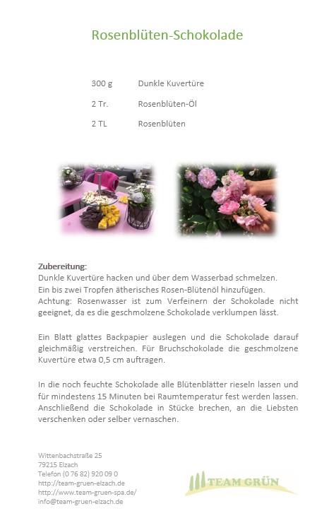 Rosenblüten-Schokolade Rezept